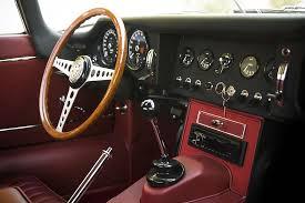 1966 jaguar xke roadster for auction black red leather restored