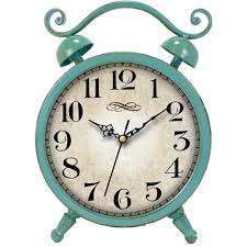 Better Homes And Gardens Wall Decor by Better Homes And Gardens Teal Table Clock Walmart Com
