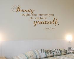 quote wall decal picture more detailed about motivational quote wall sticker beauty begins the moment you decide yourself inspirational decal