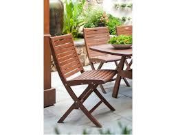 Jensen Outdoor Furniture Jensen Leisure Topaz Collection Ipe Folding Side Chair