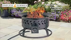 endless summer portable lp gas fire pit features video model