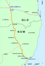 Map Of Queensland The Queensland Hunter Gas Pipeline Rlms