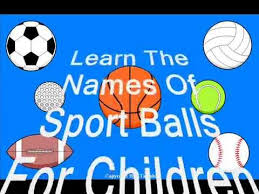 sport balls for children learn the names of 7 different teaching