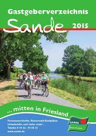 Komplett K Hen K Henzeile Gastgeberverzeichnis Sande 2015 By Ostfriesland Tourismus Gmbh Issuu