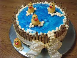 rubber ducky in the tub baby shower cake cakecentral com