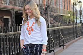 white shirt white necklace images J crew bubble necklace white collared shirt bows sequins jpg