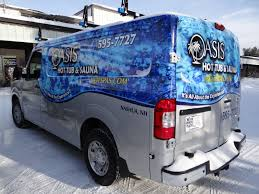 nissan nv2500 custom vehicle wraps floor and wall graphics serving new england