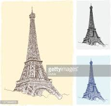 eiffel tower paris drawing vector art getty images