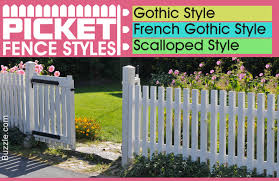 elegant picket fence styles that lend a classy look to your home