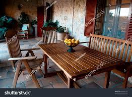 The Terrace Mediterranean Kitchen - beautiful mediterranean terrace oranges stock photo 83289142