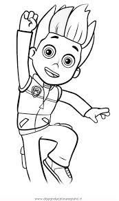 disegno pawpatrol ryder 1 personaggio cartone animato da colorare