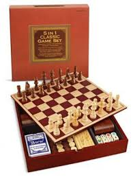 Barnes And Nobles Board Games Amazon Com 5 In 1 Classic Game Set Wooden Board Chess Checkers