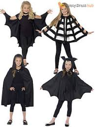 Boys Kids Halloween Costumes Kids Halloween Black Hooded Bat Spider Cape Cloak Boys Child Fancy