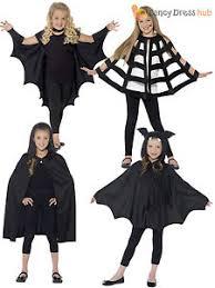 Boys Kids Halloween Costumes Kids Halloween Black Hooded Bat Spider Cape Cloak Boys Child Fancy