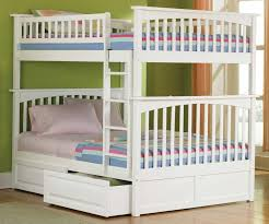White Wooden Bunk Bed Ikea Bunk Beds Painted Green Paint Bed Frame Shabby Chic