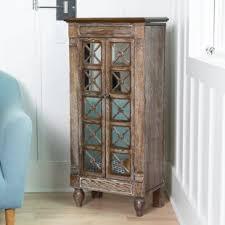 rustic jewelry armoire rustic jewelry armoires you ll love wayfair
