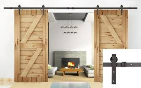 amazon com u max 13 ft double door sliding track barn door