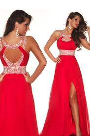 loving dresses 2014 prom dresses a line scoop sweep brush chiffon open