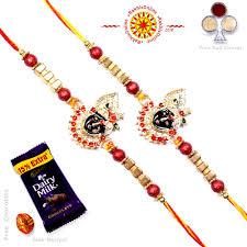 buy rakhi online rakhi set two rakhi set rakhis online br 224 dr