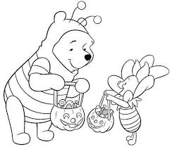 disney halloween pooh coloring sheet kids picture 13 550x475