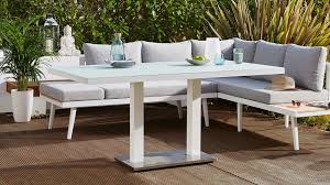 6 seater outdoor dining table palermo white 6 seater outdoor table danetti uk