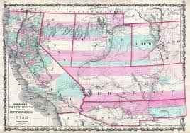 Nevada Zip Code Map by Map From Colorado To California California Map
