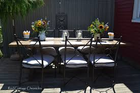 Outdoor Dining Area With No Chairs No Sew Patio Chair Cushion Covers Made With Pillow Cases Chair