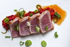 photo plat cuisine gastronomique poisson thon gastronomie cuisine plat repas aliment wall