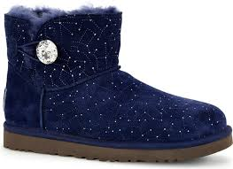 womens navy boots australia ugg australia s mini bailey button bling constellation