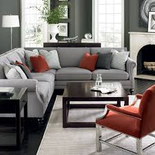 Grey Patterned Accent Chair Pinterest Nadinevoikos Bernhardt Living Room In Grey Red And