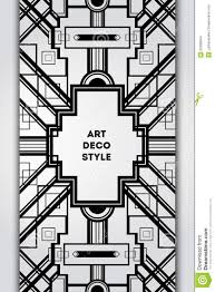 art deco vintage decorative frame retro card design vector temp