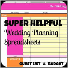 Wedding Invitation Excel Template Best 25 Wedding Spreadsheet Ideas On Wedding Budget