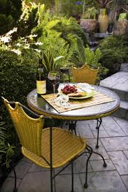 classic outdoor dining area with small garden yard beautiful