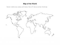 Blank Map Of The World Pdf by Outline Map Of World Pdf With Maps In Worksheet Roundtripticket Me