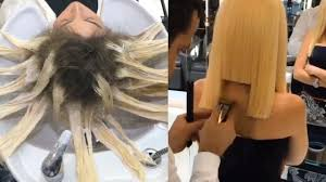 haircut and color transformation 2017 youtube