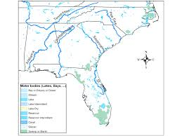 Rivers In Usa Map by River Systems In Southeastern U S