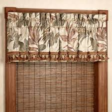 Window Panels Bali Palm Tropical Window Treatments By Croscill
