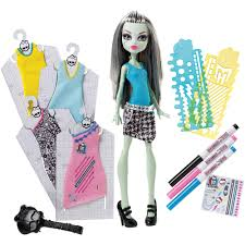 Monster High Halloween Doll by Monster High Designer Booo Tique Frankie Stein Doll And Fashions