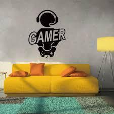 wall sticker decal children room gaming gamer joystick video