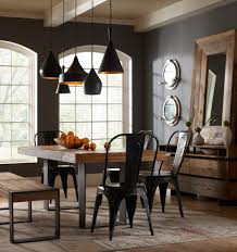 tolix chair dining room industrial with black chairs black pendant