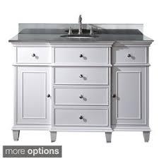 48 single sink vanity with backsplash virtu usa khaleesi 48 inch single sink white vanity with carrara