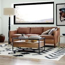 Leather And Fabric Sofa In Same Room Hamilton Leather Sofa 81