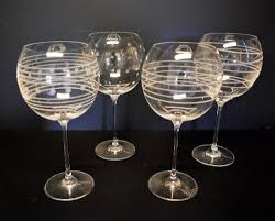a beautiful set of 4 balloon wine glasses from the cheers