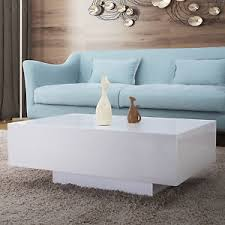 Gloss White Living Room Furniture Design High Gloss White Coffee Table Side End Table Living Room
