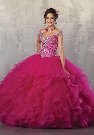 fuchsia quinceanera dresses the shoulder quinceanera dress by mori vizcaya 89162 abc