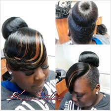 black hairstyles bun with bangs pictures on black bun hairstyles with bangs cute hairstyles for