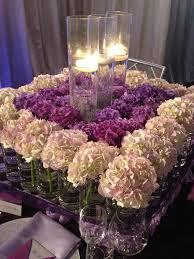 White Hydrangea Centerpiece by Soooo Gorgeous Lush Purple And White Hydrangea Centerpiece With