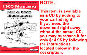1965 mustang parts 1965 mustang parts and illustrations on cd
