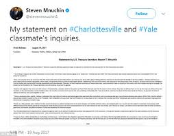steve mnuchin stands by trump after letter from classmates daily