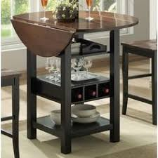dining table with wine storage inwood contemporary home bar pub table server wine rack stemware